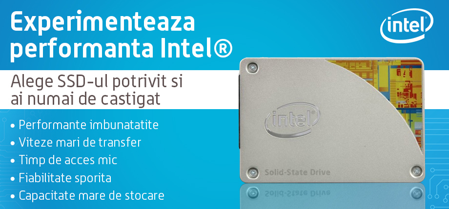 Experimenteaza performanta cu SSD-urile Intel