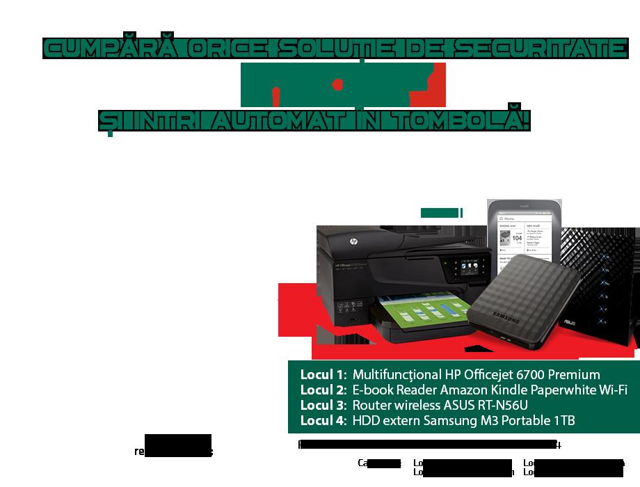 Cumpara orice solutie de securitate Kaspersky si poti castiga super premii!