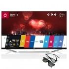 Televizor LED LG Smart TV 47LB730V Seria LB730V 119cm argintiu Full HD 3D contine 2 perechi de ochelari 3D