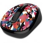 Mouse de notebook Microsoft Wireless Mobile Mouse 3500 Geometric