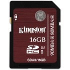 Kingston SDHC 16GB Clasa 10 UHS-I U3