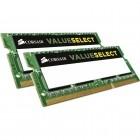 Memorie notebook Corsair ValueSelect, 8GB, DDR3, 1600MHz, CL11, 1.35v, Dual Channel Kit (desigilat)