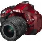 Nikon D5200 rosu + obiectiv AF-S DX NIKKOR 18–55mm f/3.5–5.6G VR II