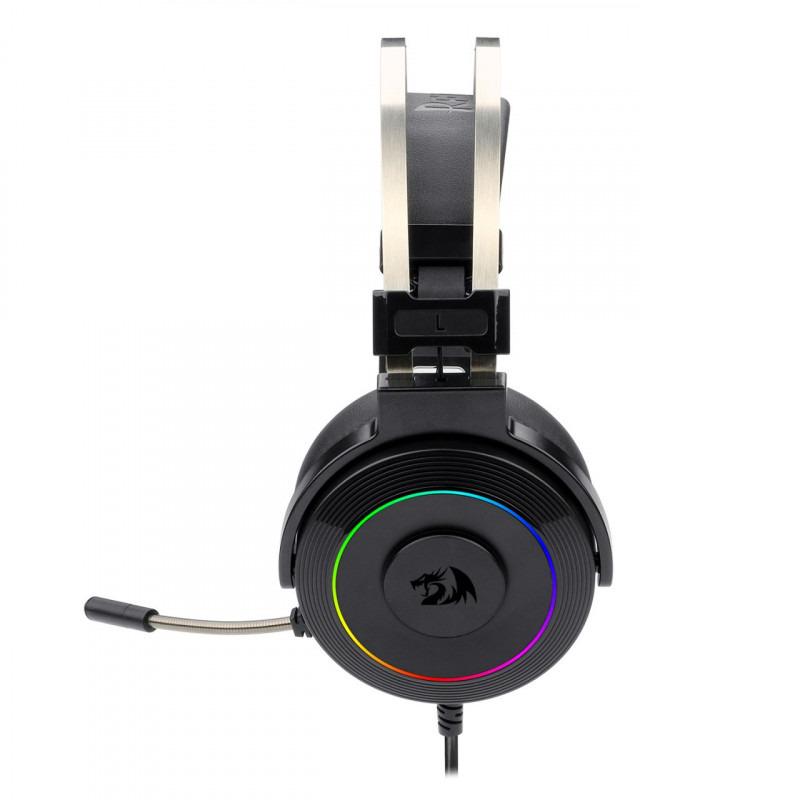 Pachet gaming Redragon, tastatura gaming mecanica Amsa Pro RGB + mouse gaming Octopus RGB + casti gaming Lamia iluminare RGB 14