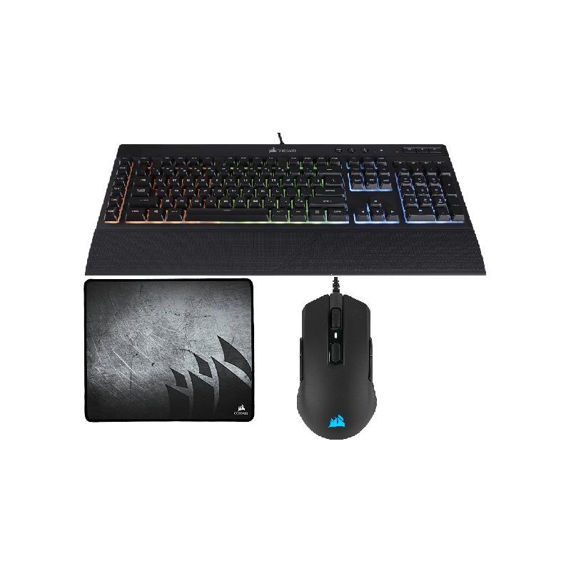 Kit Gaming Corsair K55 RGB + M55 RGB PRO + MM300 Gaming Bundle