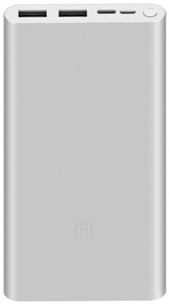 Baterie externa Xiaomi Mi Power Bank 3, 10000 mAh, 2x USB, 1x USB-C, 18W, Silver