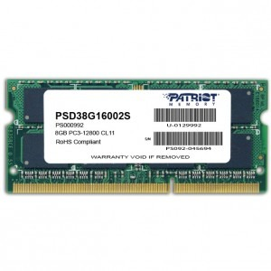 Memorie notebook Patriot Signature, 8GB, DDR3, 1600MHz, CL11, 1.5v