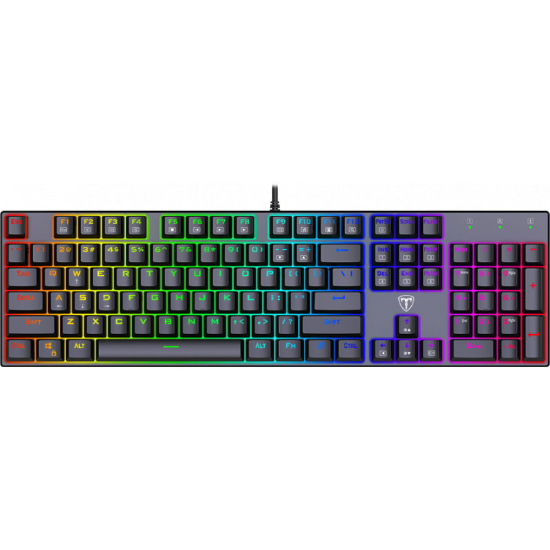 Pachet gaming T-DAGGER, tastatura mecanica Frigate RGB + mouse gaming Second Lieutenant RGB 1