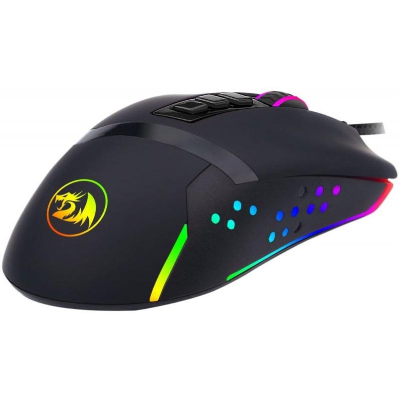 Pachet gaming Redragon, tastatura gaming mecanica Amsa Pro RGB + mouse gaming Octopus RGB + casti gaming Lamia iluminare RGB 9