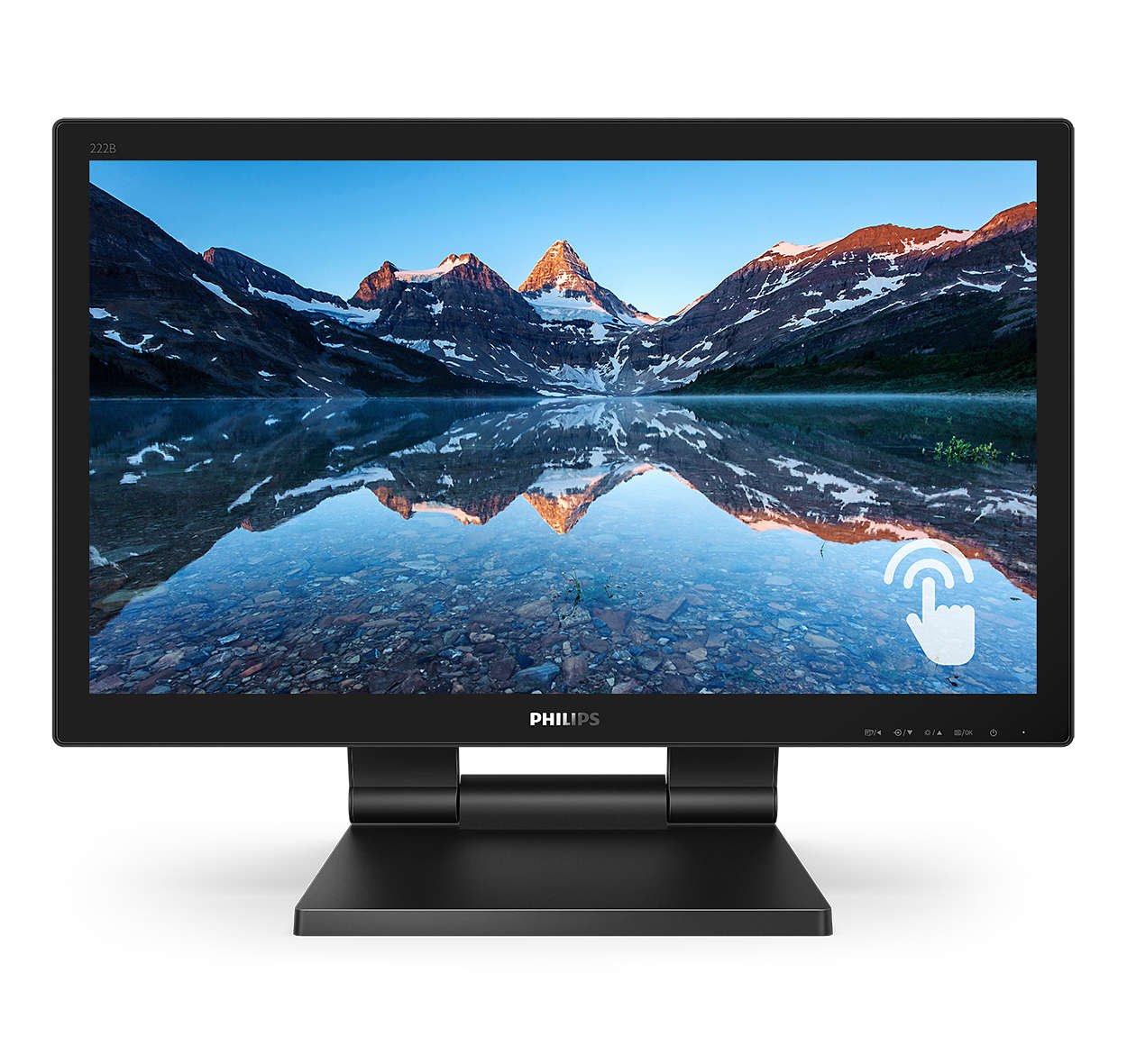 Monitor Touchscreen Philips 222B9T 21.5 inch 1ms Black