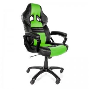 Scaun Gaming Arozzi Monza Black Green Pc Garage