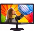 Monitor LED Philips 247E6QDSD/00 24 inch 5ms cherry black